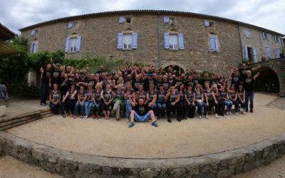 Accueil d'un groupe de motards le week-end de la Pentecôte à la Clé des Champs