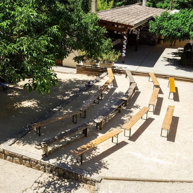 Séminaire extérieur vert Ardèche